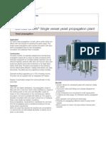 Single Vessel Yeast Propagation Plant
