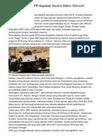 Pemerintah Dan DPR Sepakati Asumsi Makro Ekonomi RAPBN 2019