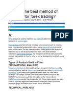 What is the best method of analysis for forex trading.docx