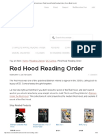 Red Hood (Jason Todd, Second Robin) Reading Order _ Comic Book Herald