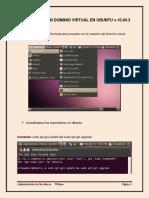Práctica Sobre La Creación de Un Dominio Virtual en Ubuntu