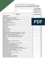 Aranceles Prestaciones Bioquímicas 2014