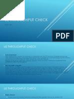 Basic Throughput Check