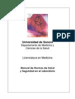 Manual de Normas de Salud y Seguridad en El Laboratorio UNISON MED FISIO