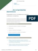 AFIP - Emision de Comprobantes Electronicos - 2018-08-03