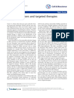 Cancer Biomarkers and Targeted Therapies
