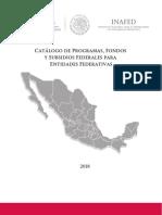 Catalogo Programas Fondos Subsidios 2018