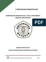 Petunjuk Praktikum Parasitologi - Pemeriksaan KOH+ scabies