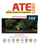 GATE 2019 Information Brochure