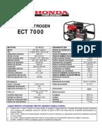 Fisa Tehnica Generator HONDA ECT 7000