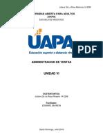 Unidad VI Administracion de Ventas Juliana de La Rosa