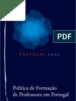 politicas formacao professores portugal