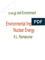 Environmental Impact of Nuclear Energy