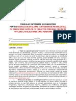 2 Companie Formular Consimtire Psiholog Testare Offline Prelucrari Offline Si Online 18 Ani