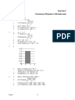 Answers - Continuous Probability Distributions