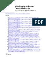Buku Himpunan Peraturan Tentang Perguruan Tinggi Di Indonesia