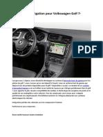 Système de Navigation Pour Volkswagen Golf 7