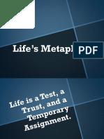 Life's Metaphors