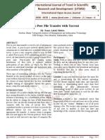Peer To Peer File Transfer with Torrent