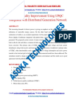 Power Quality Improvement Using UPQC Integrated with Distributed Generation Network