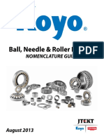 Koyo Ball, Needle and Roller Bearing Nomenclature Guide