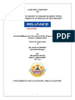 Growth of Money in Share Market With Special Reference to Reliance Securities- Prakriti Singh- Lucknow University