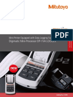 Mitutoyo - Mini Processor Danych DP-1VA LOGGER - E12041 - 2018 EN