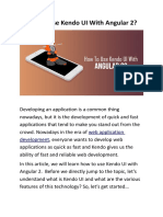 How To Use Kendo UI With Angular 2?