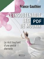 France Gauthier - L'insoutenable légèreté de mourir - Ebook-Gratuit.co.epub