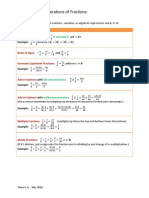 Properties of Fractions