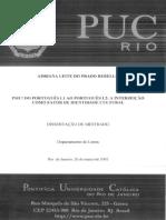 PSIU! Do Português L1 Ao PortuguêsL2 a Interjeição Como Fator de Indentidade Cultural