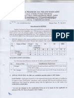 MPJNM Manager Dy Manager Posts Notification