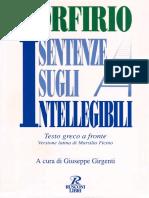 Porfirio, A Cura Di Giuseppe Girgenti - Sentenze Sugli Intellegibili. Versione Latina Di Marsilio Ficino (1996, Rusconi)