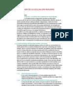 Reforma de La Educacion Peruana