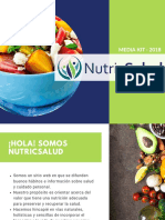 Agosto 2018 - MEDIA KIT - NutricSalud