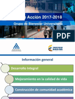 Plan de Acción de BU 2017-2018
