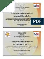 RPMS Certificate 2018-2019