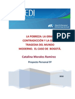 La Pobreza El Caso de Bogota Por Catalina Morales