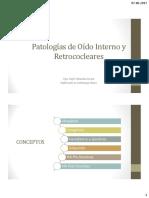 Patologías Oído Interno y Retrococlear 2017