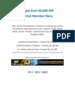 Semarang - Taruhan Bola Daftar Gratis Bonus 50ribu Rupiah