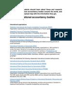 International Accountancy Bodies