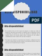 Alta Disponibilidad - Unidad III