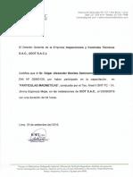 Certificado Edgar Benites y Milton Huanga