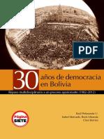 30 Añs de Democracia en Bolivia