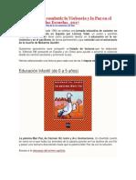 Lecturas Para Combatir La Violencia y La Paz en El Mundo