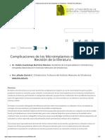 Complicaciones de Los Microimplantes en Ortodoncia - Revisión de La Literatura