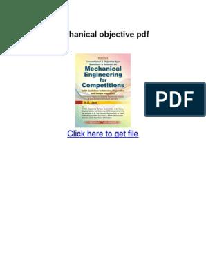 Rk Jain Mechanical Objective PDF Download   Mechanical