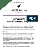 Airspace RNAV vs RNP