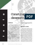 CONSTRUÇÃO E DESMONTAGEM