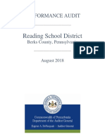 Reading School District 2018 audit